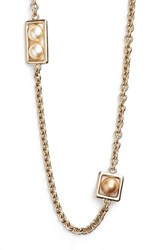 Women's St. John Collection Two Tone Glass Pearl Necklace