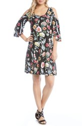 Karen Kane Cold Shoulder A Line Dress Floral
