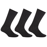 John Lewis Mercerised Cotton Socks Pack Of 3 Black