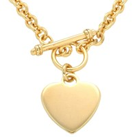 Ibb Personalised Chunky Chain Heart Necklace Gold