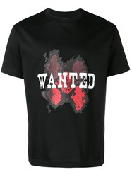 Les Hommes Wanted T Shirt Black