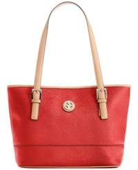 Giani Bernini Saffiano Tote Red