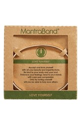 Mantraband Women's Love Yourself Engraved Cuff Rose Gold
