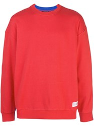 Mostly Heard Rarely Seen Fanatic Crewneck Sweatshirt Red