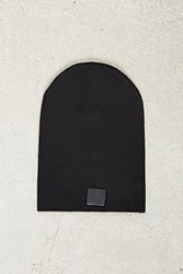 Forever 21 Men Slouchy Leather Tag Beanie