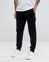 Armani Jeans Cuffed Joggers With Logo In Black Black