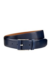 Zilli Reversible Leather Belt Blue