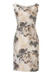Vera Mont Printed Satin Dress Grey