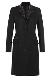 The Kooples Tailored Wool Evening Coat Black
