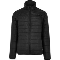 Only And Sons River Island Mens Black Quilted Jacket
