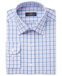Club Room Men's Estate Classic Fit Wrinkle Resistant Gingham Dress Shirt Only At Macy's Pink Blue