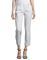 Calvin Klein Dove Print Cropped Pants Dove Multicolor