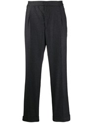 Officine Generale Slim Fit Tailored Trousers Grey