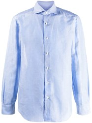 Barba Striped Shirt Blue