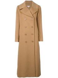 P.A.R.O.S.H. Double Breasted Coat Nude Neutrals