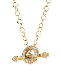 Jude Frances Lisse 18K Diamond Toggle Necklace 18 L Gold