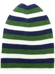 Sonia Rykiel Striped Beanie Hat Green