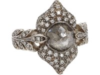Cathy Waterman Ornate Ring No Color