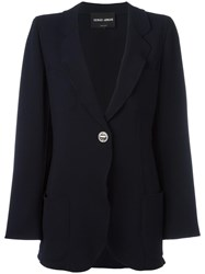 Giorgio Armani Two Button Blazer Blue