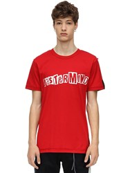 Mastermind World Safety Pin Cotton Jersey T Shirt Red