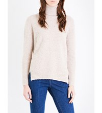 Moandco. Oversized Knitted Turtleneck Jumper Light Heather Camel