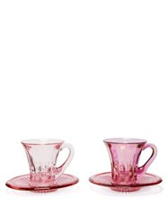 Luisa Beccaria Set Of Two Espresso Coffee Glasses Pink