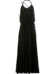 Ann Demeulemeester Pleated Maxi Dress Black