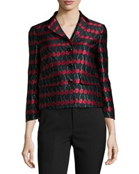 Red Valentino Cherry Print Button Front Jacket Black