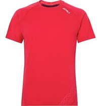 2Xu X Ctrl Mesh Panelled Stretch Jersey T Shirt Red