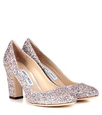 Jimmy Choo Billie 85 Glitter Pumps Silver