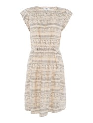 Noa Noa Short Sleeve Dress Nude