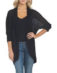 1.State Open Front Cocoon Sweater Rich Black