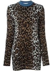 Stella Mccartney Cheetah Crew Neck Jumper Brown