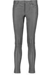 Joseph Jeannie Cropped Stretch Leather Skinny Pants Anthracite