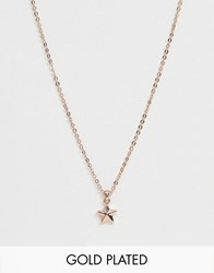 Ted Baker Shona Rose Gold Plated Star Pendant Necklace