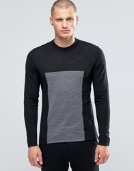 Religion Jumper With Block Panel Detail Black