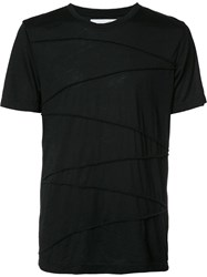 Private Stock Ribbed Detailing T Shirt Black