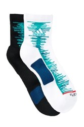 Adidas Frequency High Quarter Climalite Socks Pack Of 2 Blue