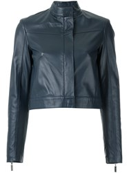 Giuliana Romanno Leather Jacket Blue