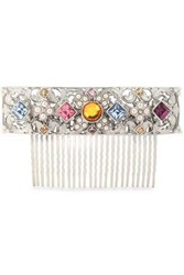 Ben Amun Woman Silver Tone Faux Pearl And Crystal Hair Slide Multicolor