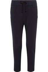 James Perse Cotton Blend Jersey Track Pants Navy