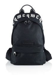 Mcq By Alexander Mcqueen Gothic Printed Backpack Black White