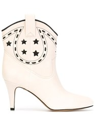 Marc Jacobs 'Georgia Cowbow' Boots Nude And Neutrals