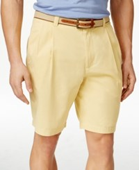 Club Room Men's Double Pleated Cotton Shorts Only At Macy's Tortilla