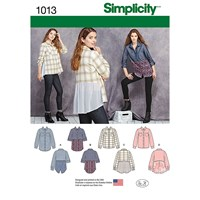 Simplicity Women's Shirt With Fabric Variation Sewing Pattern 1013