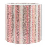 Clarissa Hulse Textured Stripe Lamp Shade Oyster Pink