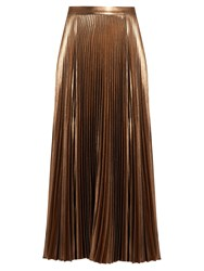 A.L.C. Bobby Pleated Midi Skirt Rose Gold