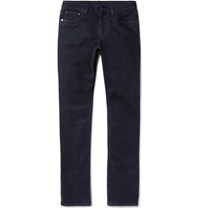 Ermenegildo Zegna Slim Fit Garment Washed Stretch Denim Jeans Dark Denim