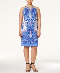 Inc International Concepts Plus Size Printed Halter Dress Only At Macy's Imperial Dynasty