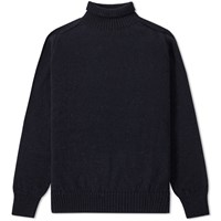 Mhl By Margaret Howell Mhl. Saddle Sleeve Roll Neck Blue